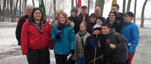 Beaconsfield Scouts and  Jessica Laventure - Global News